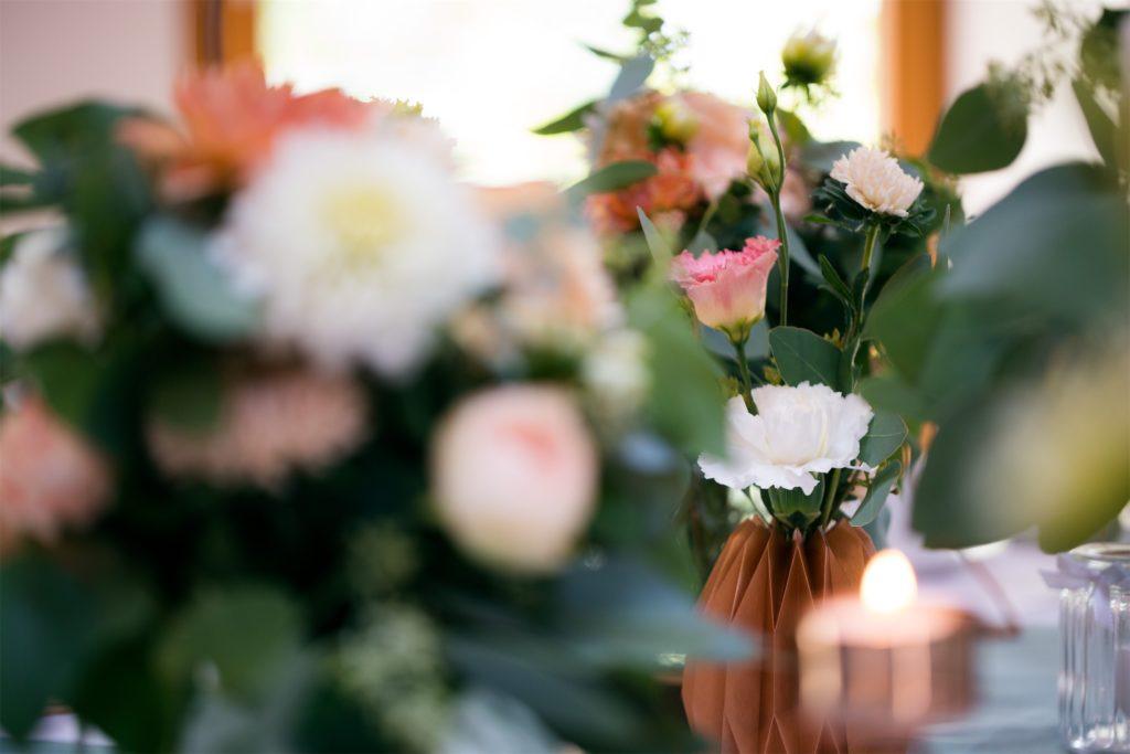 Schöne Dekoration für Hochzeit