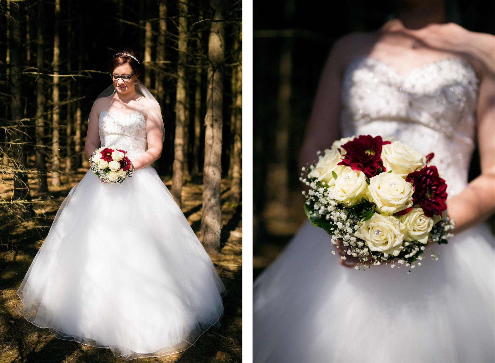 Fotos der Braut im Wald von Breidenbach-Wiesenbach