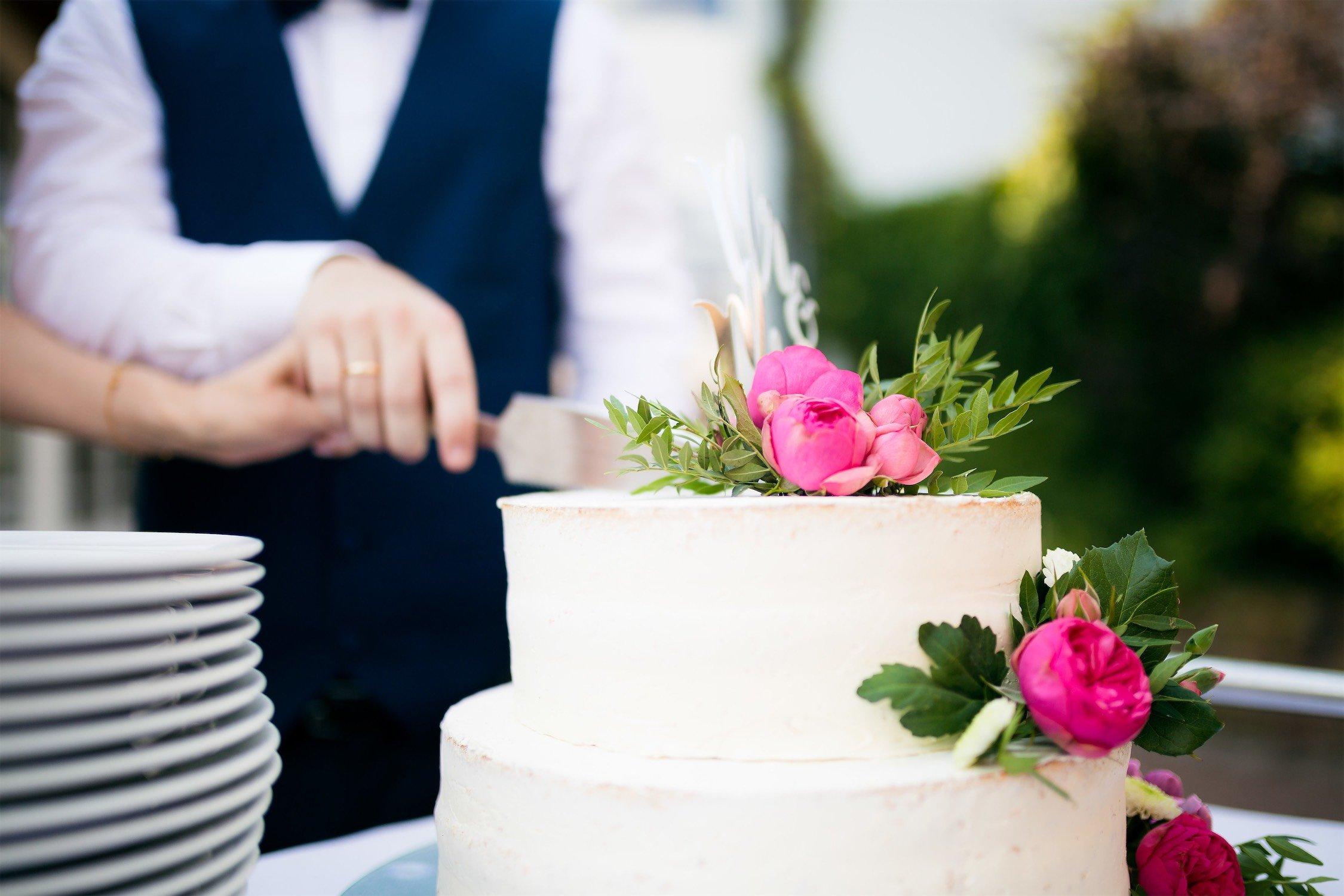 Hochzeitstorte am Seehotel Niedernberg